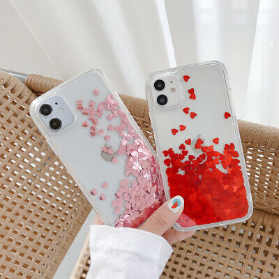 For iPhone XS Max XR 8 X Glitter Liquid Quicksand Case Clear Soft Silicone Cover