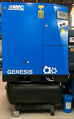 ABAC Genesis 7.508 Receiver Mounted Rotary Screw Compressor, With Dryer! 40Cfm!