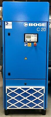 Boge C20 Rotary Screw Compressor, 90.1Cfm! 15Kw, 20Hp, Immacluate Very Low Hours