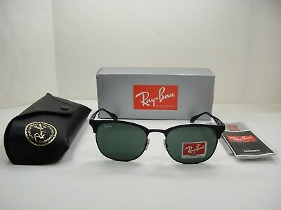 Ray-Ban Sunglasses Clubmaster Rb3538 186 71 Black green Classic Lens 53Mm a1254a9f16