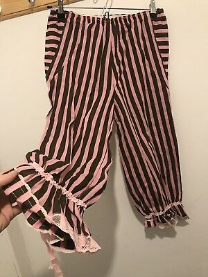 OLD ENGLAND MEDIEVAL PANTALOONS womens ladies fancy dress costume Size 10-14