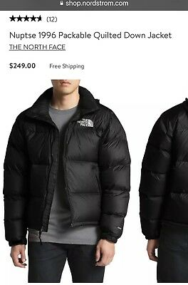 b38069a6e THE NORTH FACE Mens M Medium Nuptse 1996 Packable Quilted Down Jacket TNF  BLACK