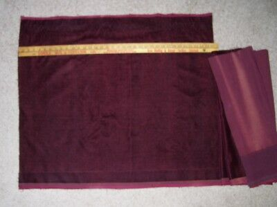 Antique Wool Mohair Yardage Piece for Upolstering Chair or Crafting BURGUNDY