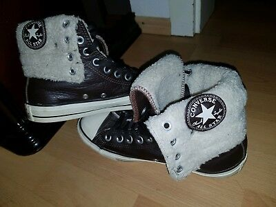 00e38b0ed0c Converse Chucks High Winter gefüttert 5,5 38 All Star Stiefel braun  Winterschuhe