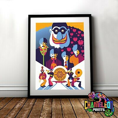 The Beatles Poster Print In A3 A4 Lonely Hearts Poster