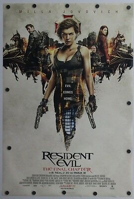 Resident Evil: The Final Chapter 2016 Double Sided Original Movie Poster 27 x 40