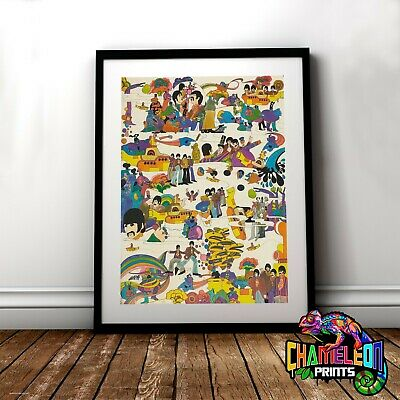 The Beatles Poster Print In A3 A4