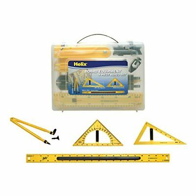 Magnetic Classroom Whiteboard Geometry 4 Piece Set, Includes Compass, 2 Triangle