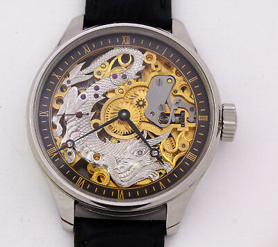1930's antique Omega 40.6L T1 chronometer marriage skeleton wristwatch engraving