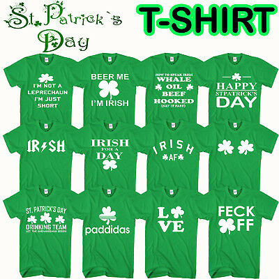 St Patricks Day T Shirt  Leprechaun Ireland Irish Drunk Beer Paddy Funny Pub Tee