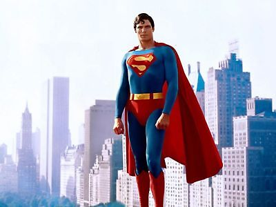"""CHRISTOPHER REEVES SUPERMAN A4 GLOSS POSTER PRINT LAMINATED 11""""x8.3"""""""