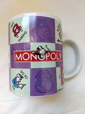 Monopoly Game Collectible Coffee Cup/Mug purple and White