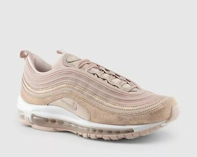 NIKE AIR MAX 97 SE Womens Size 8 Particle Beige Metallic Red