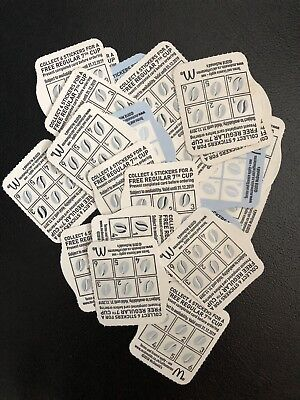 25 x McDonalds Coffee Vouchers Fully Completed Loyalty Cards/Coupons