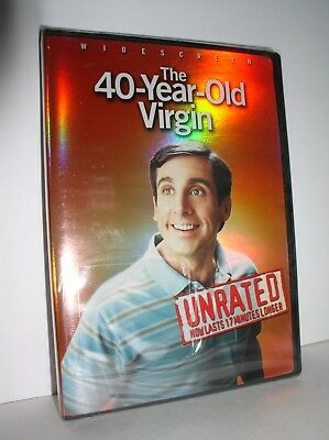 The 40-Year-Old Virgin starring Steven Carell (DVD, 2005, Widescreen Unrated,NEW