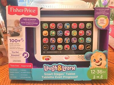 Fisher Price Laugh & Learn Smart Stages Tablet NEW IN BOX BLUE