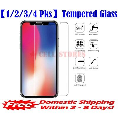 """【1/2/3/4 Pks】HD Premium Tempered Glass Screen Protector for iPhone 11 / X (5.8"""")"""