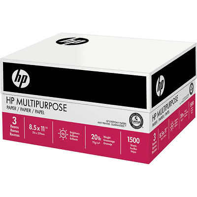 HP Ultra White Multipurpose Printer Paper Letter 20lb 96-Bright 1,500 sheets