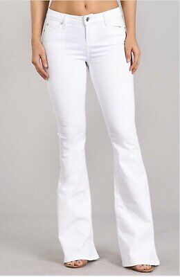 c4bb9ea35b8ab CELEBRITY PINK WHITE Stretchy Mid rise Ankle Skinny Jeans Womens ...