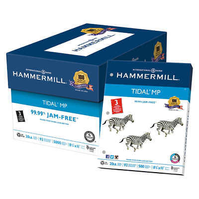 Hammermill Tidal MP 10% Recycled Printer Paper 3-Hole Punched Letter 20lb 5000ct