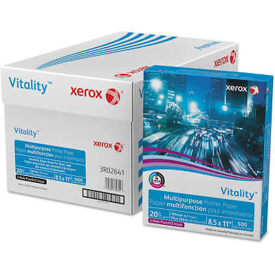 Xerox Vitality Multipurpose Paper 3-Hole Punched Letter 20lb 92-Bright 5000 shee