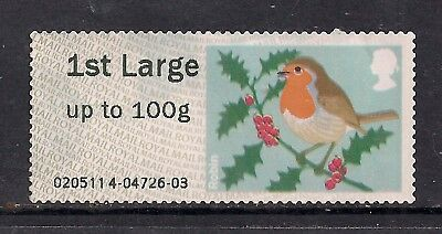 GB 2012 QE2 1st Large Post & Go up to 100 gms Christmas Robin No Gum ( C669 )