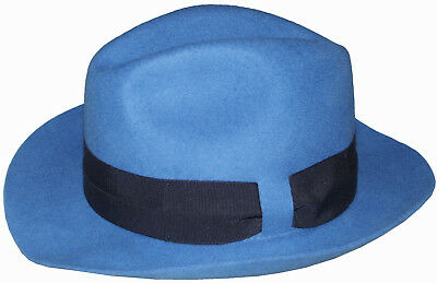fee8f36a1ea PAUL SMITH 100% WOOL COBALT BLUE HAT   TRILBY SIZE-M RARE made in