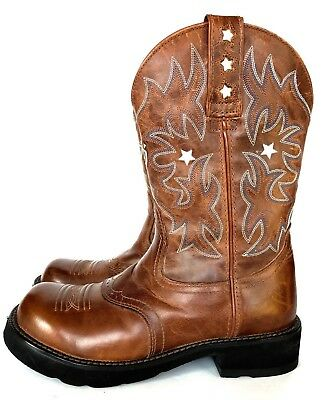 fd72bc6ffe3 ARIAT GIRLS FATBABY Brown Leather Western Roper Cowboy Boots Youth Kids  Size 8 B