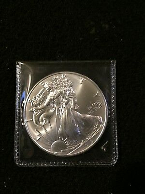2018 1 oz American Silver Eagle $1  BU Coin/with Presidential See Description