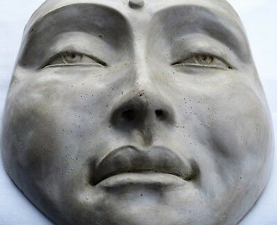 Buddha Face Handmade Sculpture, Indoor-Outdoor Signed Wall Art by Claybraven