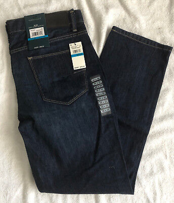 1d4d0eef6c NWT NEW Men Perry Ellis Blue Jeans Size 36 x 30 Slim Fit Low Rise Straight