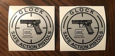 Glock Safe Action Pistols Sticker Decal New Lot Of 4