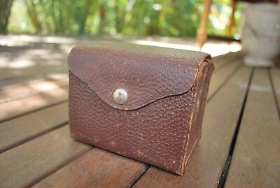 Collectible Kodak Box Brownie In Leather Case