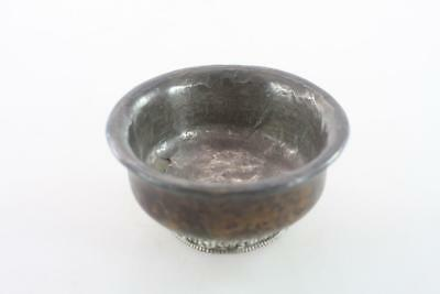 Ancient Tibetan Sterling Silver Wood Tea Bowl