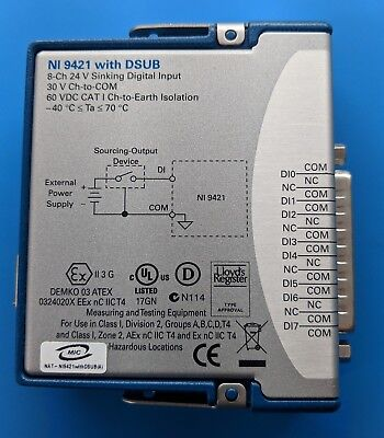National Instruments NI 9421 cDAQ Module 8-Ch 24V Sinking Digital Input