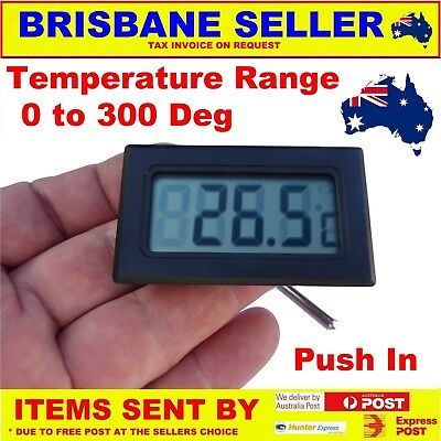 Pizza Oven Temperature Meter 0-300 Deg Plug In Battery Operated