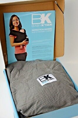 Baby K'tan Breeze Baby Carrier Breathable Cotton Mesh Sling Wrap Gray Medium