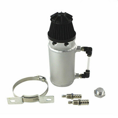 Universal Aluminium Oil Catch Can Tank Reservoir Breather Filter