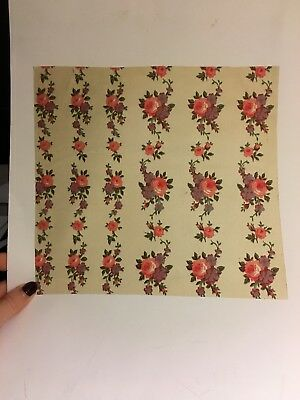 Inspirational Antique Hand Painted Roses Textile Design Probably French c1900