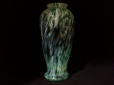 Large Mid Century Streaked Art Glass Vase