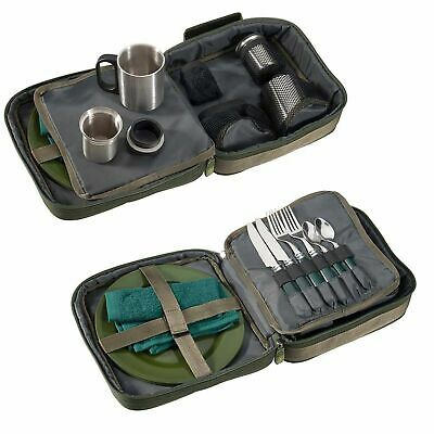 Angel Besteck Set Camping Geschirr in Tasche Picknick Essbesteck Outdoor Foodbag