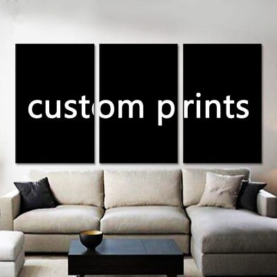 Custom Made Canvas Wall Art Picture Framed 3 Pieces HD Customised Print Home