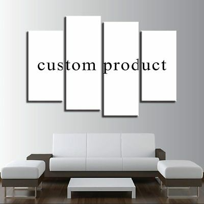 Custom Made Canvas Wall Art Picture Framed 4 Pieces HD Customised Print Home