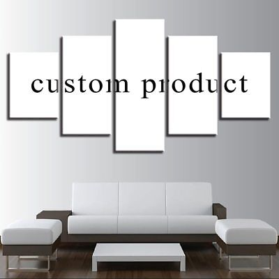 Custom Made Canvas Wall Art Picture Framed 5 Pieces HD Customised Print Home