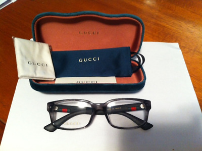 d48cc8c5e6ff Authentic Gucci Eyeglasses GG0012O GG/0012/O 003 Grey/Crystal Optical Frame  54mm