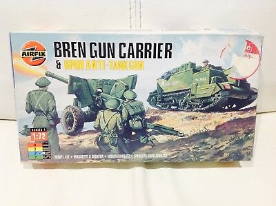 Airfix BREN GUN CARRIER & 6PDR ANTI-TANK GUN  Tank British Army 1/72 Scale 01309