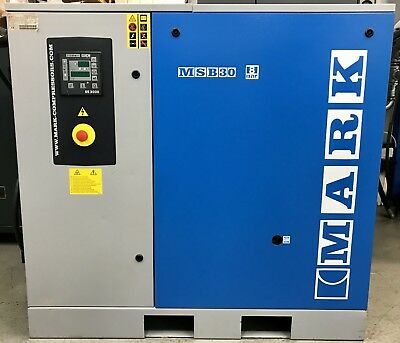 Mark MSB30/8 Rotary Screw Compressor, 30kW, 140CFM! Immaculate! Low Hours!