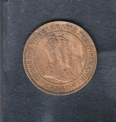 1909 Canada 1 One Cent Penny  Canadian Coin