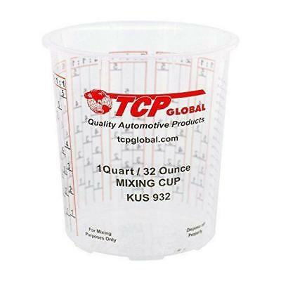 Pack Of 12 each 32 Ounce Paint Mix Cups mixing calibrated ratios on side of cup