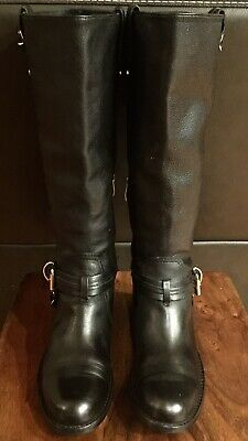 60680ed880ab VINCE CAMUTO TALL Black Chocolate Brown Riding Boots Boot Smooth ...